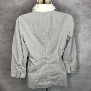 New York & Company Tops - New York & Company Pinstriped Button Up Blouse